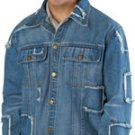 Casual Outfitters 100 Cotton Denim Rag Jacket - Large
