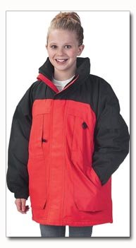 Maxam Mountain Brand Childs Red and Black Parka - Size 7