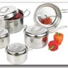 Chefs Secret 9pc 18/10 Stainless Steel Cookware with Hammered Texture