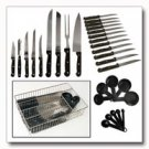 Maxam 32pc Cutlery Set in Wire Basket