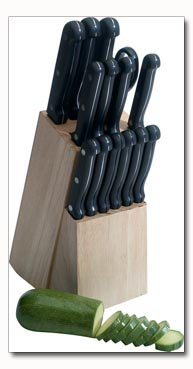 Maxam 15pc Cutlery Set in Wood Block