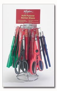 Maxam 24pcs Kitchen Shears in Wire Rack