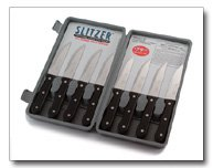 Slitzer 8pc Professional German Style Jumbo Steak Knives