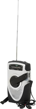 AM/FM/Weather Band Emergency Crank Radio