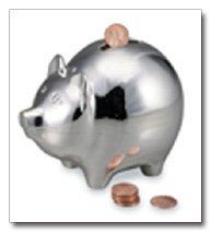 Sterlingcraft Silverplated Piggy Bank
