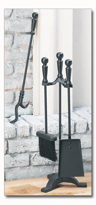 Maxam 4pc Fireplace Tool Set