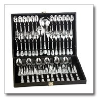 Sterlingcraft 51pc Silverplated Flatware Set with ribbon design