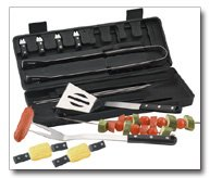 Slitzer 16pc BBQ tool set with long-lasting Bakelite handles