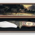 Maxam 11inch Hunting Knife With A Picture Of An Elk On It
