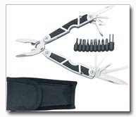 Maxam Stainless Steel Multi-tool and 9 bits with Rubber Insert Handles