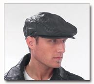 Giovanni Navarre Solid Genuine Leather Driving Cap