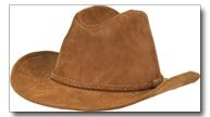 Casual Outfitters Genuine Suede Leather Cowboy Hat - Medium