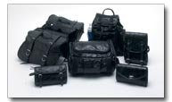 Diamond Plate Rock Design Genuine Buffalo Leather 7pc Motorcycle Luggage Set