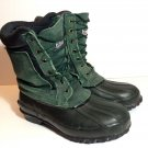 RED BALL BOOTS  Size 8 THERMOLITE STEEL SHANK GREEN BLACK DUCK Safety work