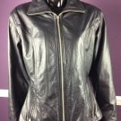 Wilsons Leather Women's Jacket Maxima Leather Zip Up Size M black zippers