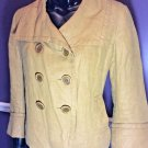 J Crew Women's Linen Pea Coat Size 6 Jacket Gold Classic