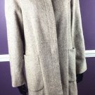 Gap Women's Tweed Coat Size Small Brown Cream Wool Button Down Full Length S