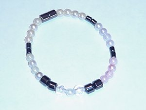 HEM2 - Magnetic Hematite - Bracelet or Anklet - 7 1/2 In