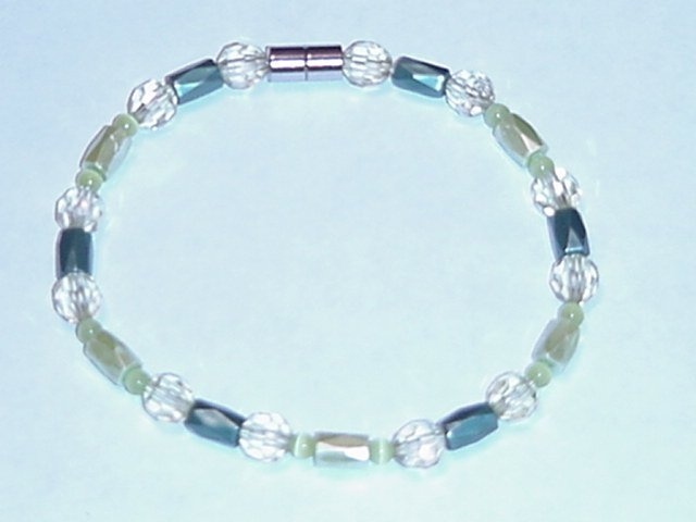 HEM3 - Magnetic Hematite - Bracelet or Anklet - 9 1/2 In