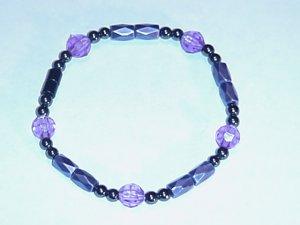 HEM5 - Magnetic Hematite - Bracelet or Anklet - 7 3/4 In