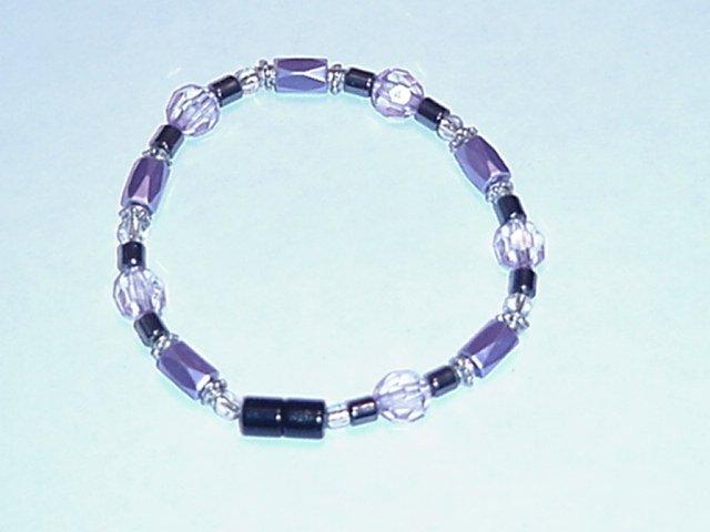 HEM6 - Magnetic Hematite - Bracelet or Anklet - 7 1/4 In