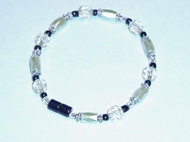 HEM7 - Magnetic Hematite - Bracelet or Anklet - 7 3/4 In