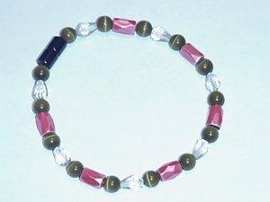 HEM8 - Magnetic Hematite - Bracelet or Anklet - 7 3/4 In
