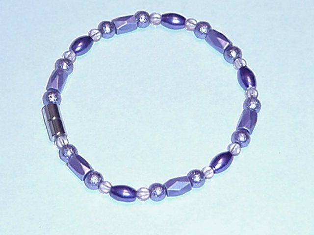 HEM9 - Magnetic Hematite - Bracelet or Anklet - 8 1/4 In