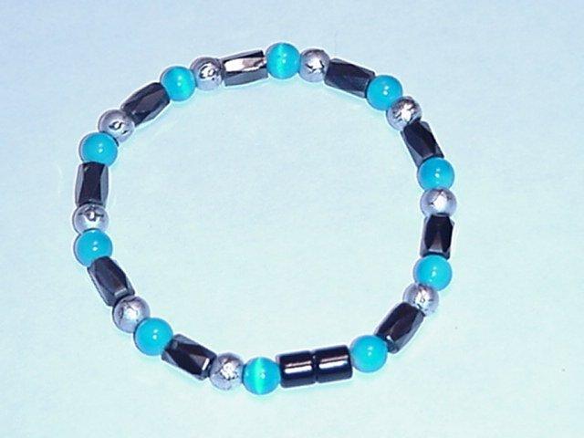 HEM10 - Magnetic Hematite - Bracelet or Anklet - 7 3/4 In