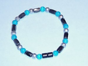 HEM10 - Magnetic Hematite - Bracelet or Anklet - 7 3/4 In