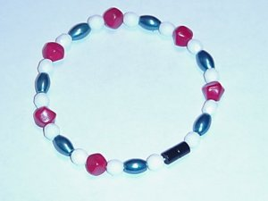 HEM11 - Magnetic Hematite - Bracelet or Anklet - 7 3/4 In