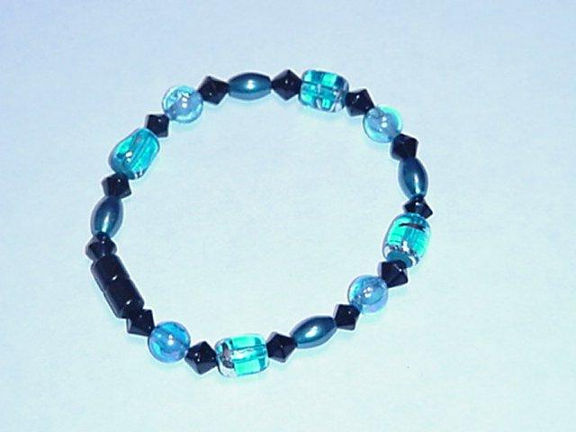 HEM12 - Magnetic Hematite - Bracelet or Anklet - 7 1/2 In