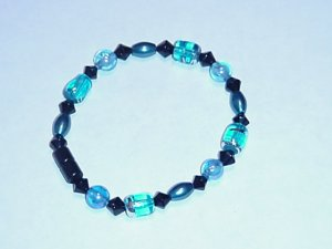 HEM12 - Magnetic Hematite - Bracelet or Anklet - 7 1/2 In