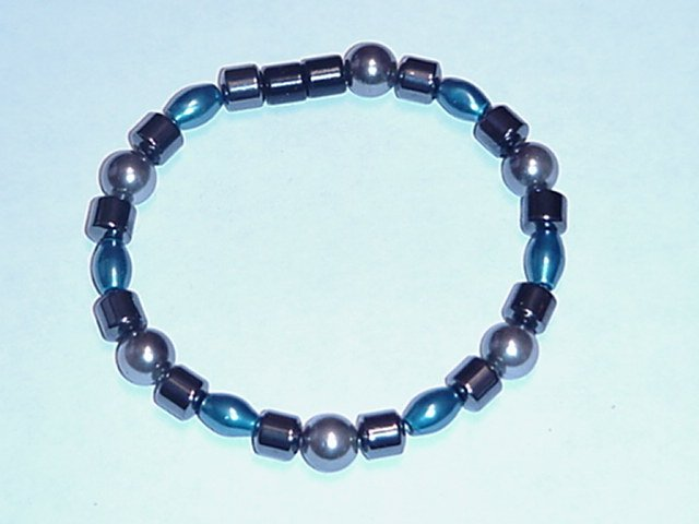 HEM14 - Magnetic Hematite - Bracelet or Anklet - 7 1/2 In