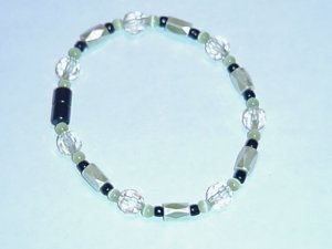 HEM15 - Magnetic Hematite - Bracelet or Anklet - 8 In