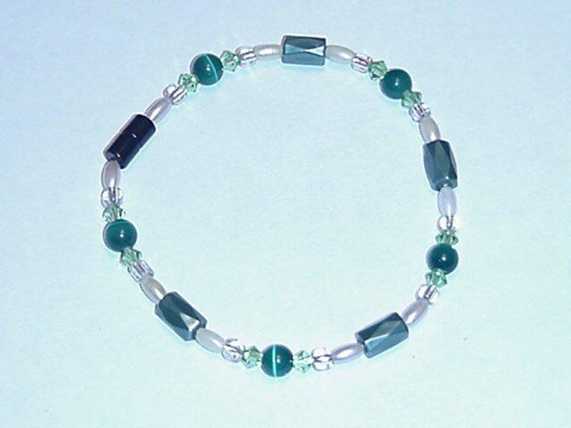 HEM16 - Magnetic Hematite - Bracelet or Anklet - 7 3/4 In