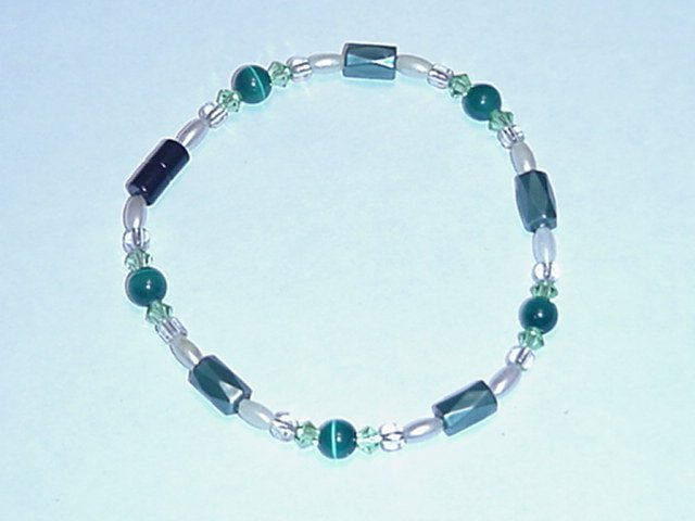 HEM16 - Magnetic Hematite - Bracelet or Anklet - 7 3/4 In