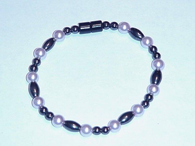 HEM17 - Magnetic Hematite - Bracelet or Anklet - 7 1/2 In