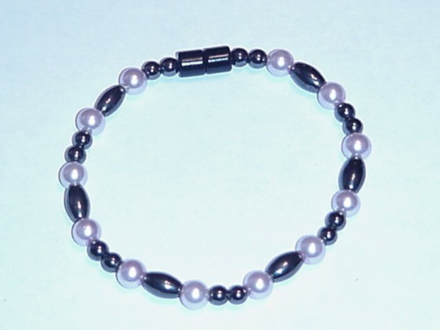HEM17 - Magnetic Hematite - Bracelet or Anklet - 7 1/2 In