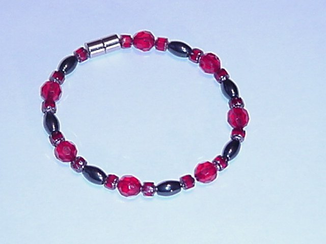 HEM23 - Magnetic Hematite - Bracelet or Anklet - 8 In