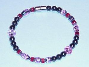 HEM25 - Magnetic Hematite - Bracelet or Anklet - 8 1/4 in.