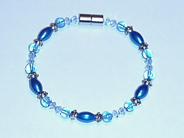 HEM26 - Magnetic Hematite - Bracelet or Anklet - 7 in.