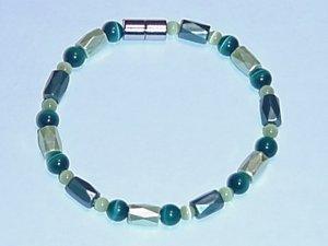 HEM27 - Magnetic Hematite - Bracelet or Anklet - 7 1/2 in.