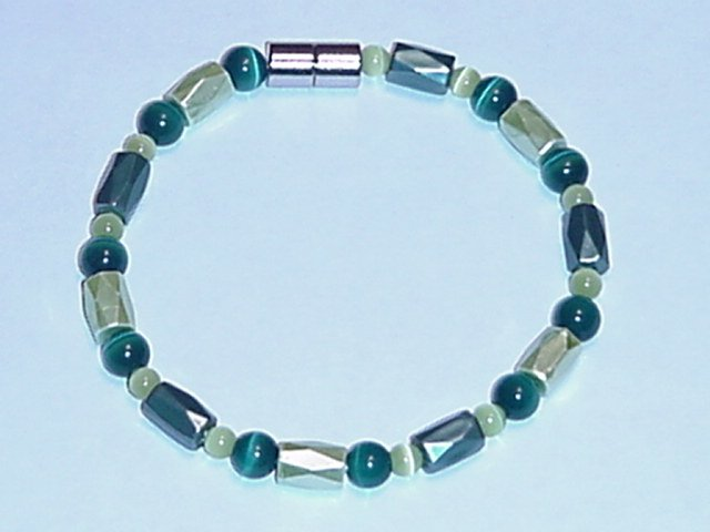 HEM27 - Magnetic Hematite - Bracelet or Anklet - 7 1/2 in.