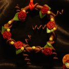 Heart Wreath Ornament # 3 handmade from Polymer Clay by Treasure Vallie
