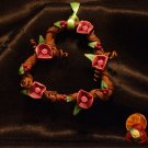 Heart Wreath Ornament # 4 handmade from Polymer Clay by Treasure Vallie