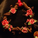 Heart Wreath Ornament # 12 Handmade from Polymer Clay by Treasure Vallie