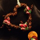 Heart Wreath Ornament # 22 Handmade from Polymer Clay by Treasure Vallie