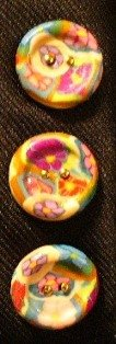 Button Set # 6 Polymer Clay Button Set of 3 - handmade from Polymer Clay by Treasure Vallie