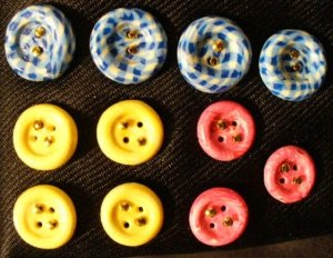 Button Set # 9 Polymer Clay Button Set of 11 - handmade from Polymer Clay by Treasure Vallie